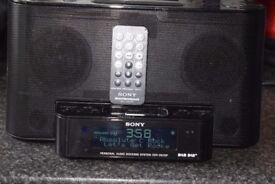 SONY DAB RADIO/IPODDOCK/REMOTE/AUXIN/DABANTENNA/ALARM CLOCK