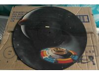 """ELO 12"""" SINGLE TICKET TO THE MOON PICTURE DISC 1981 JEFF LYNNE PLAYS NICE SEE PICS"""