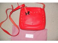 Red leather Radley cross body bag