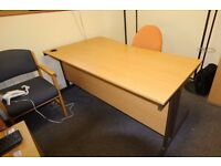 Office Desk Dismantled ready for collection and Chairs to clear