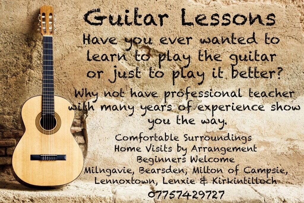 Guitar Lessons & Tuition - Bearsden, Milngavie, Lenzie, Kirkintilloch and surrounding area.