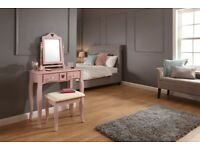 AMAZING GLAMOUR DRESSING TABLE WITH STOOL AND MIRROR! BRAND NEW! 2 COLOURS DELIVERY AVAILABLE!