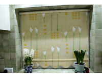 ROLLER BLINDS, PAIR TAILOR MADE VGC