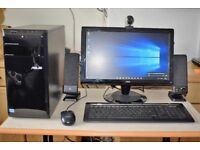 Asus Full Desktop PC, i3 Quad Core, 4GB Ram, 500GB HDD, WiFi, Webcam, Speakers HD Graphics, Win 10