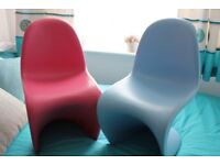 Pink And Blue Kids S Side Chair - Inspired By Designs of Verner Panton
