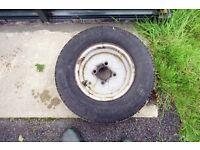 145x10 Caravan wheel and tyre