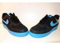 Nike Mens Size 12 Air Force 1 Low – Black Elephant Print/Vivid Blue | Trainers | Shoes | Footwear