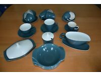 Vintage Poole Pottery cameo blue moon coffee/tea set