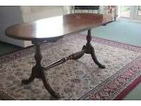 (D ENDED COFFEE TABLE MAHOGONY COLOUR