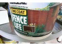 Bucket and half of Ronseal paint