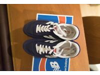 Barely Used New Balance 410 Shoes / Size 34 / Navy & White Suede