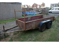 "B&B Sigma II Twin Axle Braked Trailer Independent Suspension For Spares Or Repair. 10' 3"" By 4' 5""."