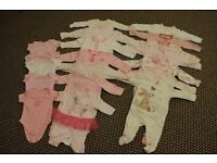 brand new baby girl clothes 0-3 months