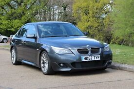 BMW 530D M SPORT! NEW MOT! 15 STAMPS! FRESH SERVICE! FULL LEATHER! RARE COLOUR! E60