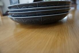 Orla Kiely Plates - Embossed Grey Stem (11 inch and 8 inch sizes)