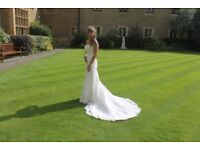 Petite size 6/8 ivory wedding dress