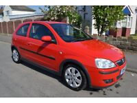 2005 vauxhall corsa 1.4 sxi red low miles.