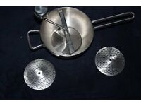 Food mill grater mouli 3 blades