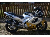 Year 2000 (W Plated) Silver/Gold/Black Yamaha Thundercat for sale.