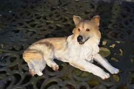 Dog ornament in resin: Collie dog