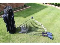 "full set of golf clubs ""texan"" complete with bag"