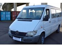 CLEAN LEFT HAND DRIVE MERCEDES BENZ SPRINTER, RUNS SMOOTHLY,GOOD ENGINE AND MECHANICS,BIG LOAD SPACE