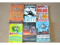 Slightly older kids reading books -fire thief, wind singer etc