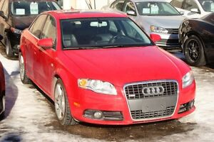 2008 Audi A4 S-LINE AWD S/ROOF, LEATHER, AUTO, ALLOYS