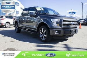 2015 Ford F-150 Lariat 4X4, FORD CERTIFIED LOW RATES & EXTRA WAR