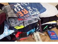 Big bundle lot Brand NEW men's clothing (60 items) various sizes and brands