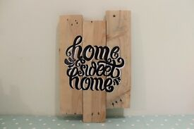 'Home Sweet Home' Hand Made Wall Hanging