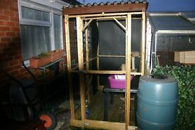 "large dog/cat house/run 47""wide 76"" long and 80"" high in very good condition"