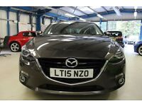 Mazda Mazda3 3 D SPORT NAV [1 OWNER - SATNAV - BLUETOOTH] (finished in titanium flash) 2015