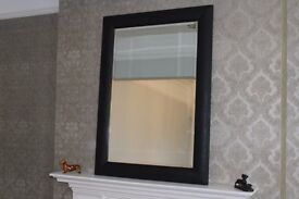 Large bevelled wall mirror, upcycled, Nocturnal.
