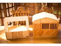 Melissa & Doug Stable and Breyer - Wooden Model Horse Stable