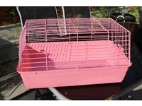 Pink Small Animal Travel Cage (rabbit/chinchilla/large rats)