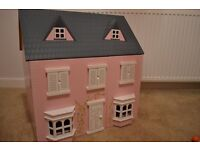 Wooden Dolls House Furniture and Family