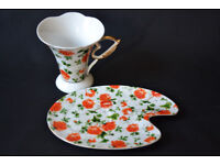 PORCELAIN CUP WITH SAUCER BOXED, TEA CUP, COFFEE CUP