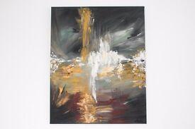 "Contemporary Modern Art, Original Dramatic Abstract Acrylic Painting, 24 x 30"" Canvas"