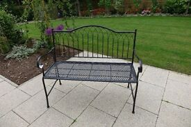 Garden Bench - French style. Hinged for easy storage - folds away - new