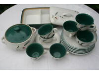 Really Lovely Denby Green Wheat design, individual pieces of Dinner/Tea ware in great condition