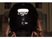 Crash Helmet, agv motorbike helmet, woman or medium size, black, perfect condition