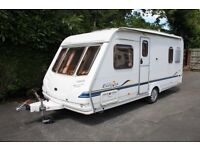 Sterling Europa 2002 4 Berth Fixed Bed Caravan + Full Awning + Winter Cover