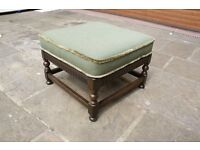 Ercol Footstool (882) York Minster in Soft Green dated 1995