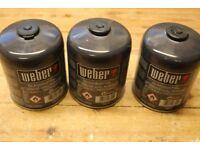 weber propane / butane gas bottles