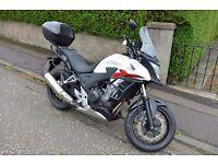 Honda CB500X Lowered Motorbike - Almost New & Extras