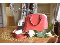 Brand New Louis Vuitton Alma BB Handbag Poppy colour