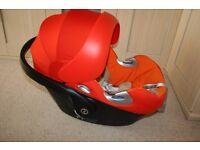 Cybex Aton Q Platinum baby car seat - orange (Autumn Gold) **can post**