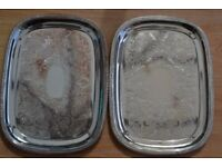 Pair of Silver Plated Trays by Cavalier of England