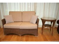 Lloyd Loom Spalding Furniture Set: Two seater sofa, 2x armchair, 1x side table. Excellent condition.